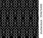 seamless geometric pattern.... | Shutterstock .eps vector #554676400