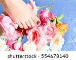 pure water and legs | Shutterstock . vector #554678140