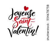 happy valentines day. french... | Shutterstock .eps vector #554678758