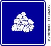 pile of rocks or coal sign | Shutterstock .eps vector #554682550