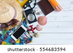 summer holiday background ... | Shutterstock . vector #554683594