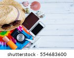 summer holiday background ...   Shutterstock . vector #554683600
