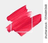 logo brush painted watercolor... | Shutterstock .eps vector #554684368