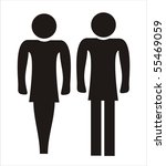 schematic icons set people. | Shutterstock .eps vector #55469059
