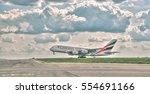 prague   may 5  2016  emirates...   Shutterstock . vector #554691166