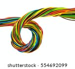 color wires on white background | Shutterstock . vector #554692099