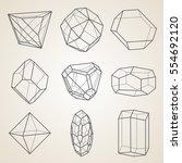 set of geometric crystals.... | Shutterstock .eps vector #554692120