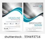 brochure template flyer... | Shutterstock .eps vector #554693716