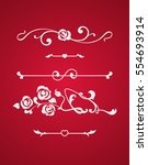 calligraphic elements with... | Shutterstock .eps vector #554693914
