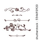 calligraphic elements with... | Shutterstock .eps vector #554693920