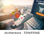 online shopping concept.close...   Shutterstock . vector #554695468