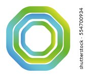 octagon figure geometric lines... | Shutterstock .eps vector #554700934