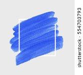 logo brush painted watercolor... | Shutterstock .eps vector #554703793