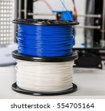personal 3d printer and abs or... | Shutterstock . vector #554705164