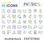set vector line icons  sign and ... | Shutterstock .eps vector #554707840