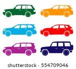car icon. suv set. | Shutterstock .eps vector #554709046