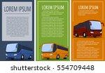 tourist bus banner set | Shutterstock .eps vector #554709448