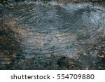 well spring  circles on water ... | Shutterstock . vector #554709880