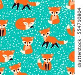 seamless pattern with cute...   Shutterstock .eps vector #554710804
