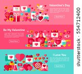 valentine day web horizontal...   Shutterstock .eps vector #554712400