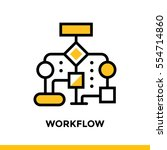 linear workflow icon for... | Shutterstock .eps vector #554714860