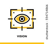 linear vision icon for startup...   Shutterstock .eps vector #554714866