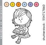 vector illustration coloring by ... | Shutterstock .eps vector #554717860