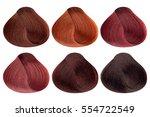 set of locks of six different... | Shutterstock . vector #554722549