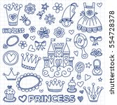 my little princess hand drawn... | Shutterstock .eps vector #554728378