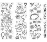 my little princess hand drawn...   Shutterstock .eps vector #554728924