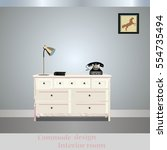 old chest of drawers  commode... | Shutterstock .eps vector #554735494