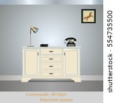 old chest of drawers commode... | Shutterstock .eps vector #554735500