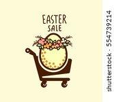 easter sale design   big cute... | Shutterstock .eps vector #554739214