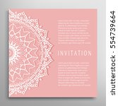 invitation or card template... | Shutterstock .eps vector #554739664