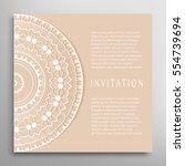 invitation or card template... | Shutterstock .eps vector #554739694