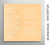 invitation or card template... | Shutterstock .eps vector #554739724