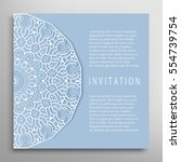 invitation or card template... | Shutterstock .eps vector #554739754