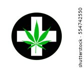 medical cannabis icon  | Shutterstock .eps vector #554742550