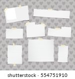ripped white ruled note ... | Shutterstock .eps vector #554751910