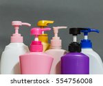 bottle of shampoo isolated on... | Shutterstock . vector #554756008