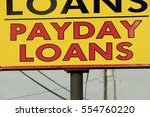 payday loan sign | Shutterstock . vector #554760220