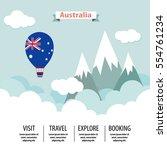 australia mountain lanscape... | Shutterstock .eps vector #554761234