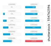 loading bars elements set....   Shutterstock .eps vector #554762596