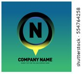 n letter colorful logo in the... | Shutterstock .eps vector #554764258
