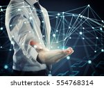 system of interconnection of... | Shutterstock . vector #554768314