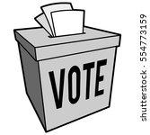 ballot box symbol illustration | Shutterstock .eps vector #554773159