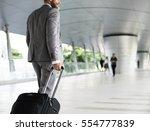 Businessmen Habds Hold Luggage...