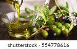 genuine italian organic oil... | Shutterstock . vector #554778616