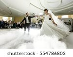 Bride Whirls To Groom Dancing...