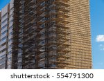 unfinished cement building at a ... | Shutterstock . vector #554791300